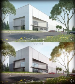 Before & After – ArchViz – Entrance Gate Keep Checking for New Work