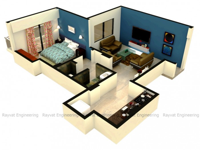 1bhk Isometric