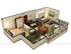 2bhk Isometric