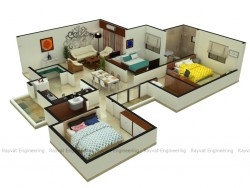 3bhk Isometric