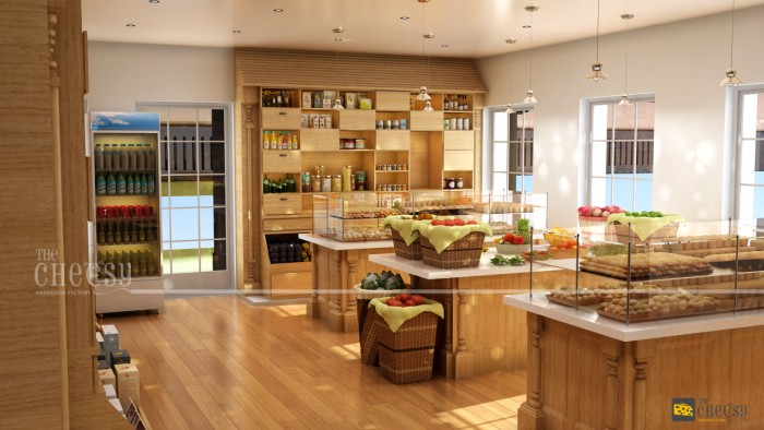 3D Kitchen Architectural Rendering