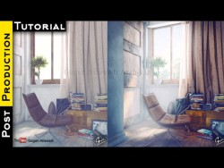 Interior Post Production Tutorial in Photoshop Architectural Visualization – YouTube