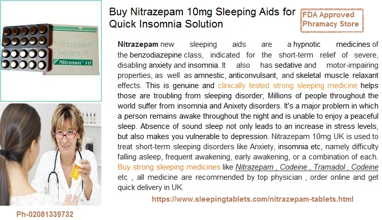 Nitrazepam Best for Troubling From Sleeping Disorder