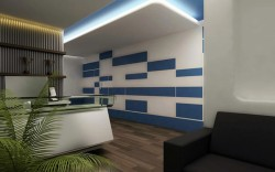 3d Commercial office interior design rendering