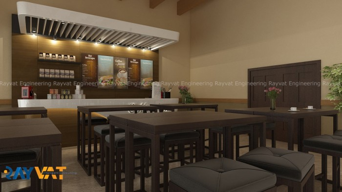 3D Interior Rendering Cafe