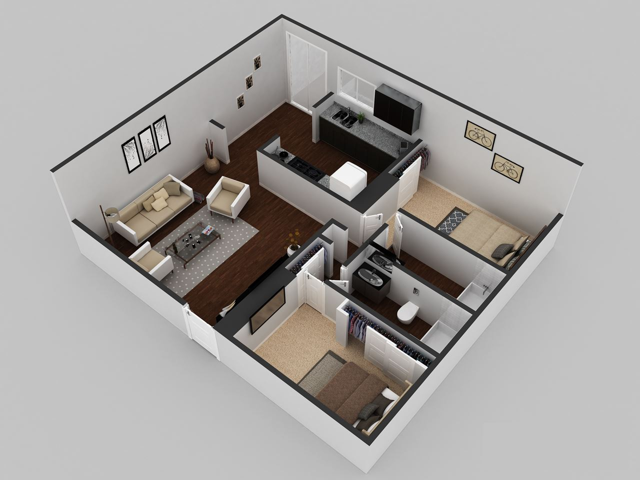 3D Floor Plan Design ARCHstudentcom