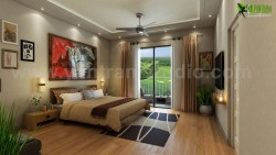 Have a look of Modern Bedroom with Gold Back Ground View USA