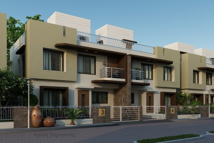 3D Exterior Residency Bungalow