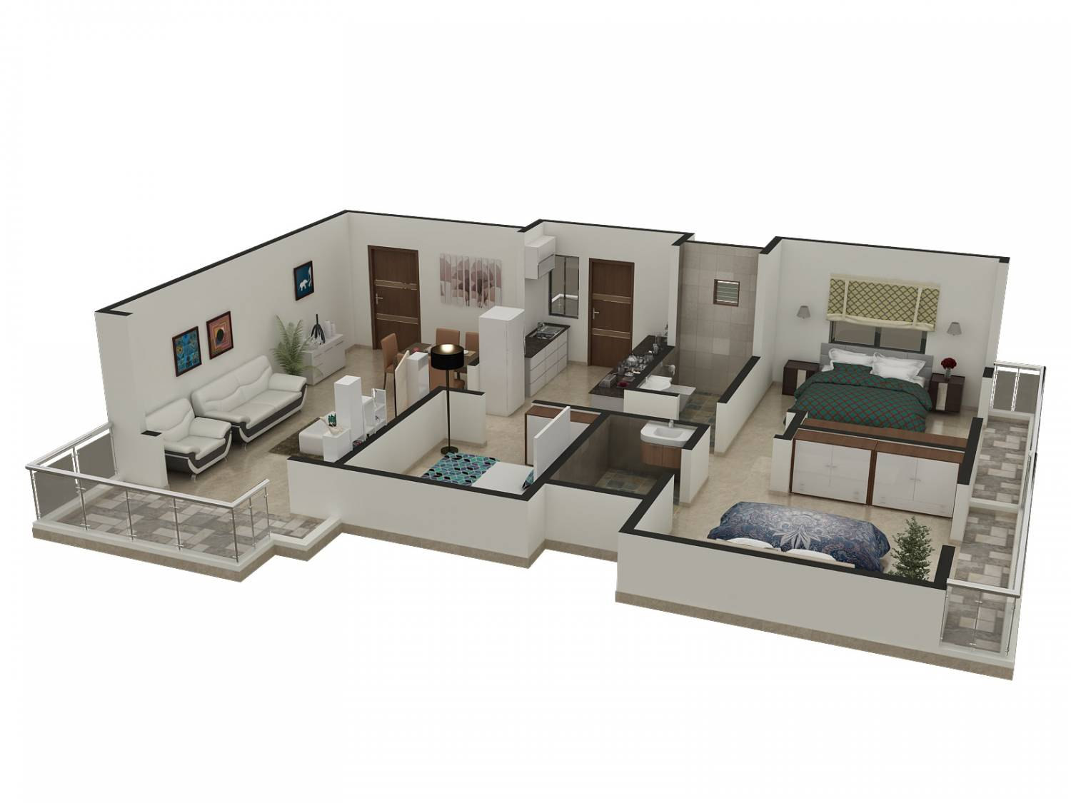 3d floor plan rendering arch for Plan rendering ideas