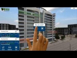 Architectural Virtual Reality experience for touch screen , VR Glasses , Wearable Device