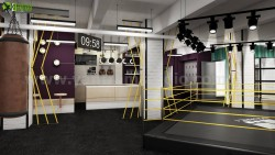 Fitness Motivation 3D Interior GYM Rendering Designs Boston