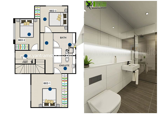 2D Floor Plan Maker for Modern Bathroom UK