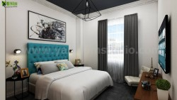 For Relaxing 3D Modern Bedroom Design View-Yantram Studio