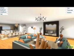 360 Virtual Reality Interior application experience for touch screen & VR Glasses