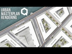 Urban Landscape Masterplan Rendering Photoshop Tutorial – video