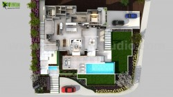 3D Conceptual Floor Plan Residential Idea