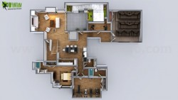 3D Modern Floor Plan Residential Design