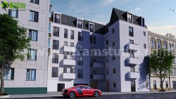 3D Commercial Exterior Building Design ideas by Yantram architectural visualization Brussels