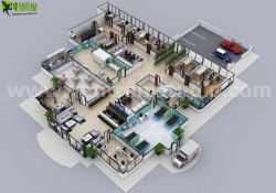 Hospital Floor Plan Concept Design by Yantram Architectural Animation Services London, UK