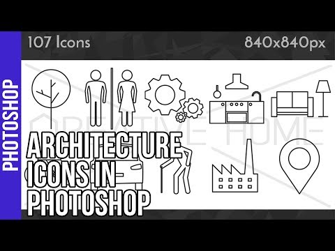Architecture Icons in Photoshop – video