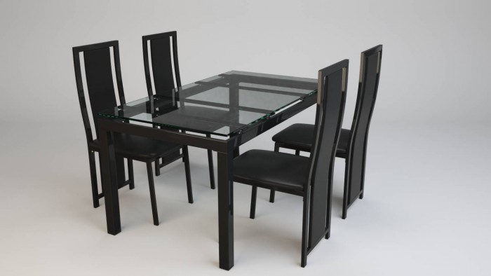 Chair & Dining Table Rendering