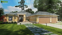 Small House Design Ideas Front Exterior Rendering by Yantram architectural visualisation studio  ...