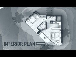 Interior Plan Monotone – Photoshop Architecture