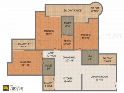 High quality 3D Floor Plan Services