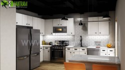 Modern Small Kitchen Design Ideas by Yantram 3d Interior Rendering Services – Berlin, Germany