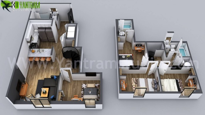 3D Home Floor Plan Designs By Yantram floor plan designer – Washington, USA