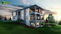 Modern House Design Ideas & Pictures by Yantram Architectural Visualisation Studio – C ...