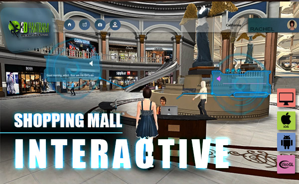 Virtual Interactive shopping Mall Application By Yantram virtual reality studio London, UK