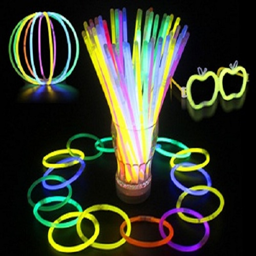 Colorful Glow Bracelets Lighting Up Darkness