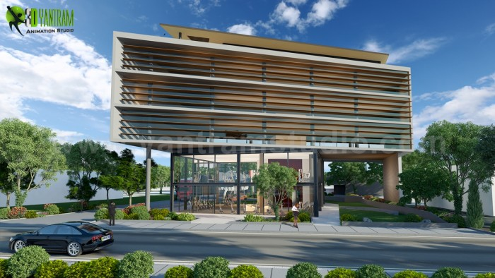 Commercial Building Exterior Design Ideas by Yantram Architectural Visualization Company – ...