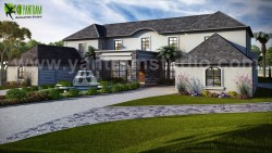 Exterior house design ideas by Yantram architectural rendering studio – Atlanta, USA