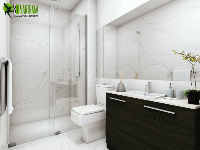 Fantastic Bathroom Interior Rendering Design