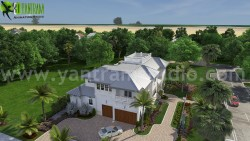 Beach Side house design with decorating ideas by Yantram architectural animation companies Miami ...