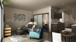 Latest Apartment with 3D Interior Modeling Ideas by Yantram Residential Interior Design Studio,  ...