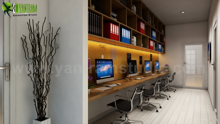 The Best 3D Computer Room Interior Design Ideas by Yantram interior concept drawings Cape Town,  ...