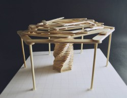 Building Technology I- Approach 7 ; Reciprocating Structure with Ice-cream Sticks (7) (combining ...