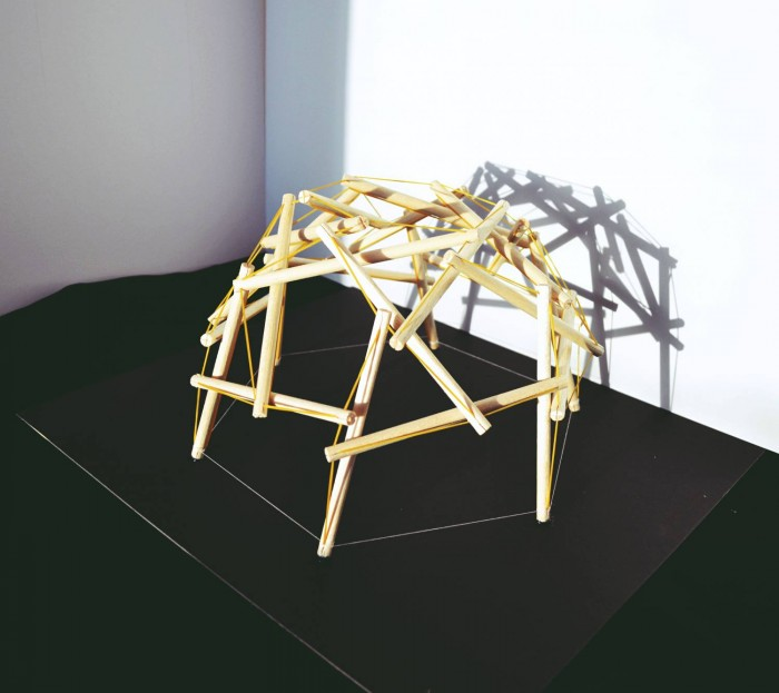 Building Technology I- project I; Tensegrity Structure (group work)