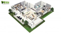 European 3D Home Floor Plan Design ideas by Yantram Floor Plan Design Companies, Paris – F ...