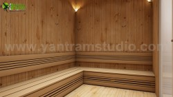 Man Female Steam Room In House Design Ideas by Yantram architectural design home plans Chicago, USA