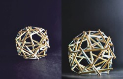 Building Technology I- Approach 5 ; Tensegrity Structure with Wood Sticks (6)