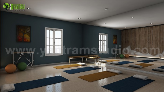Yoga Room Design Ideas by Yantram interior design for home Brussels.