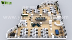 3D Office Floor Plan Design ideas by Yantram Architectural Animation Companies, Amsterdam &#8211 ...