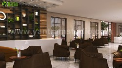 3D Interior Cafe & Reception Rendering ideas by Yantram Architectural and Design Services, B ...
