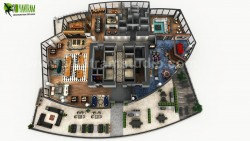 3D Rooftop Floor Plan Design Developed by Yantram Architectural Modeling Firm, Toronto – V ...
