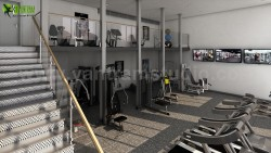 Best 3D Interior Rendering Services of Apartment with Gym Developed by Yantram Architectural Des ...