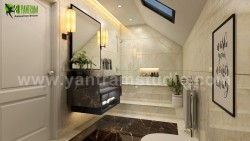 Fancy Modern Bathroom Interior Design by Yantram 3D Interior Rendering Services, Atlanta – USA